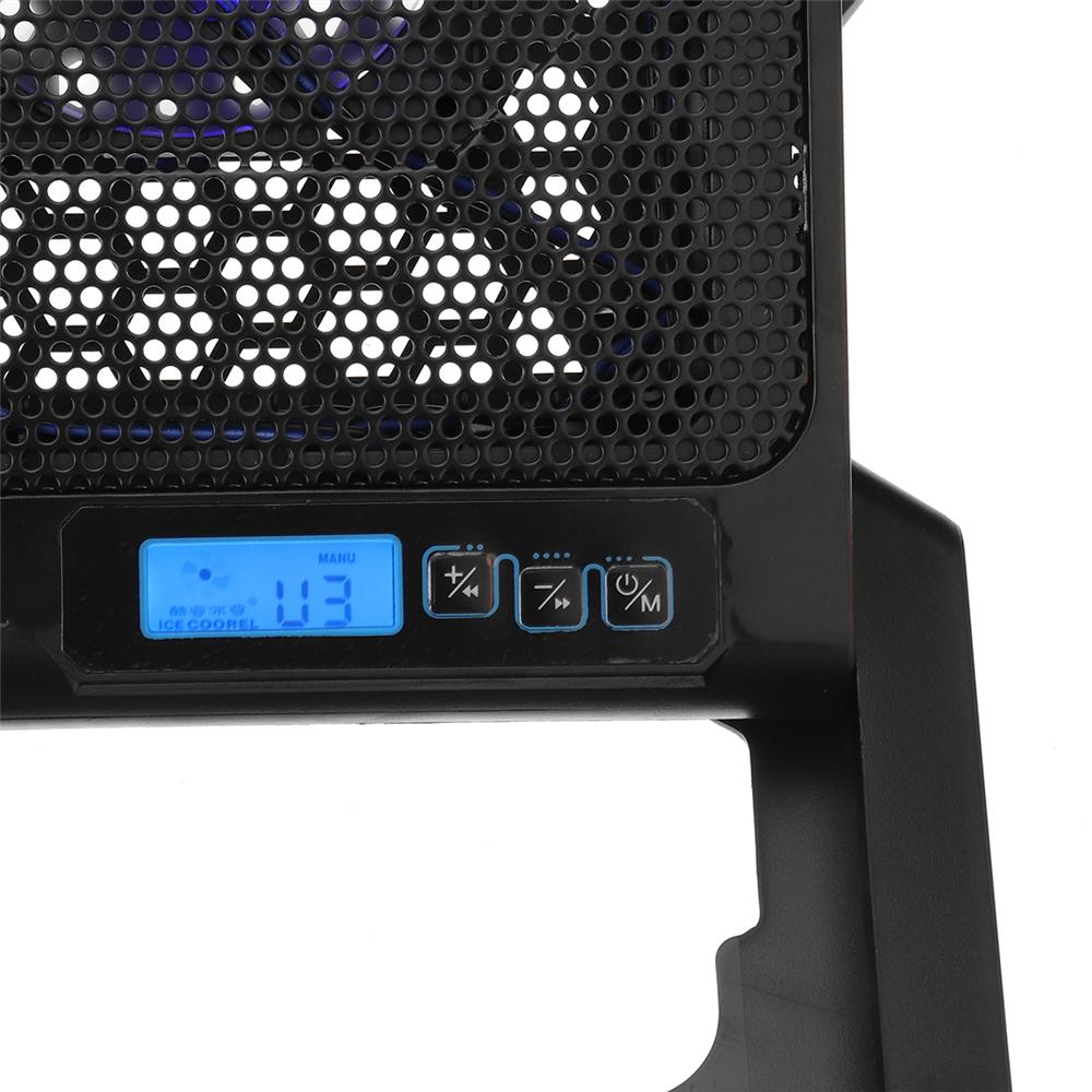 Ventilateurs réglables de refroidissement du refroidisseur 6 d'USB de support de refroidissement d'ordinateur portable avec le support pour l'utilisation d'ordinateur portable de 12-15,6 pouces