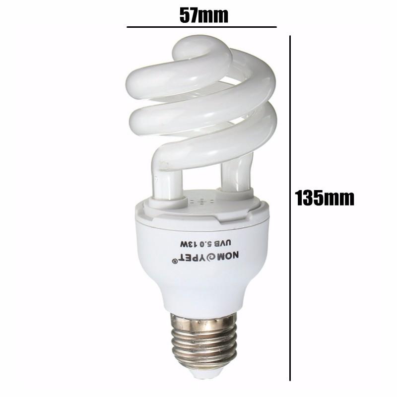 Reptile 5.0 10.0 UVB 13W Compact Light Fluorescent Desert Terrarium Lamp Bulb 110-240V