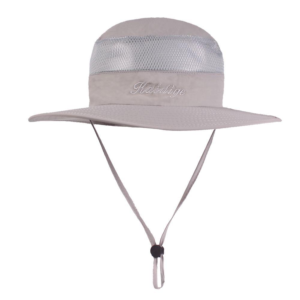 Wide Brim Bucket Hat Outdoor Breathable UV Protection Cap