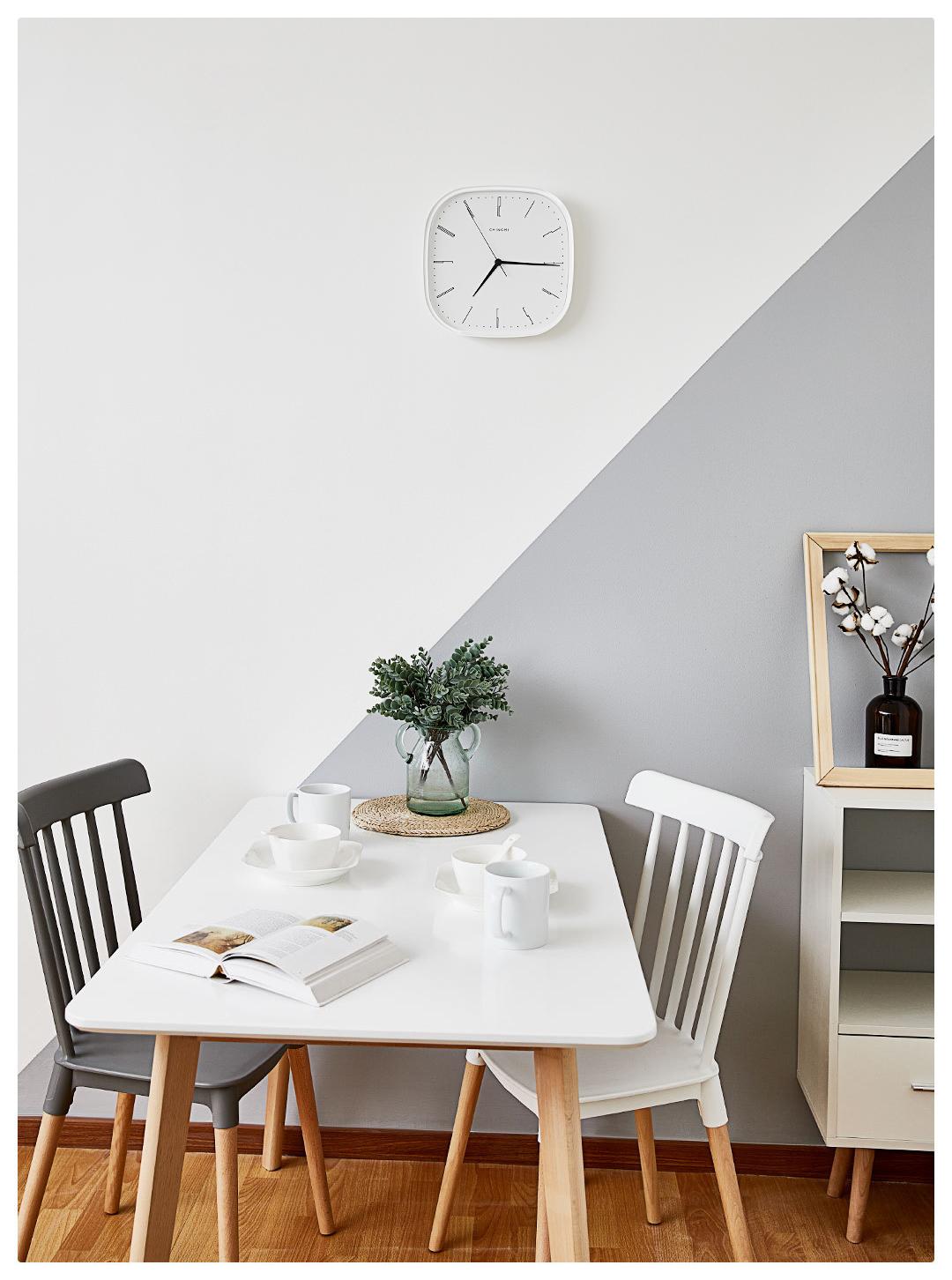 Xiaomi Mijia Chingmi Wall Clock Ultra Slient Precise Simple Design Style White Clock Home Decor