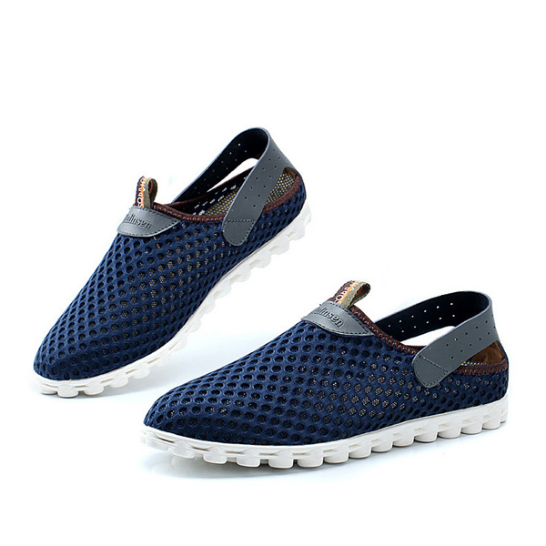 US Size 6.5-11 Breathable Mesh Athletic Shoes Slip On Outdoor Sport Sneaker Shoes