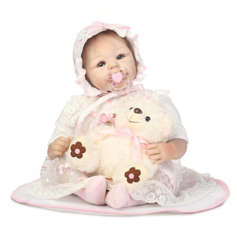 NPK Reborn Baby Doll Christmas Gift 50CM Collective Toys Full Silicone Vinyl Babies Girl