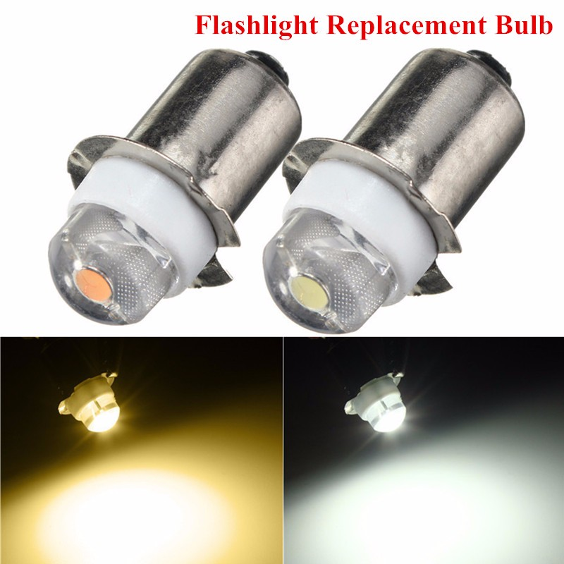 P13.5S PR2 LED Flashlight Bulb 0.5W Interior Torch Replacement Bulb DC3-18V Pure/Warm White