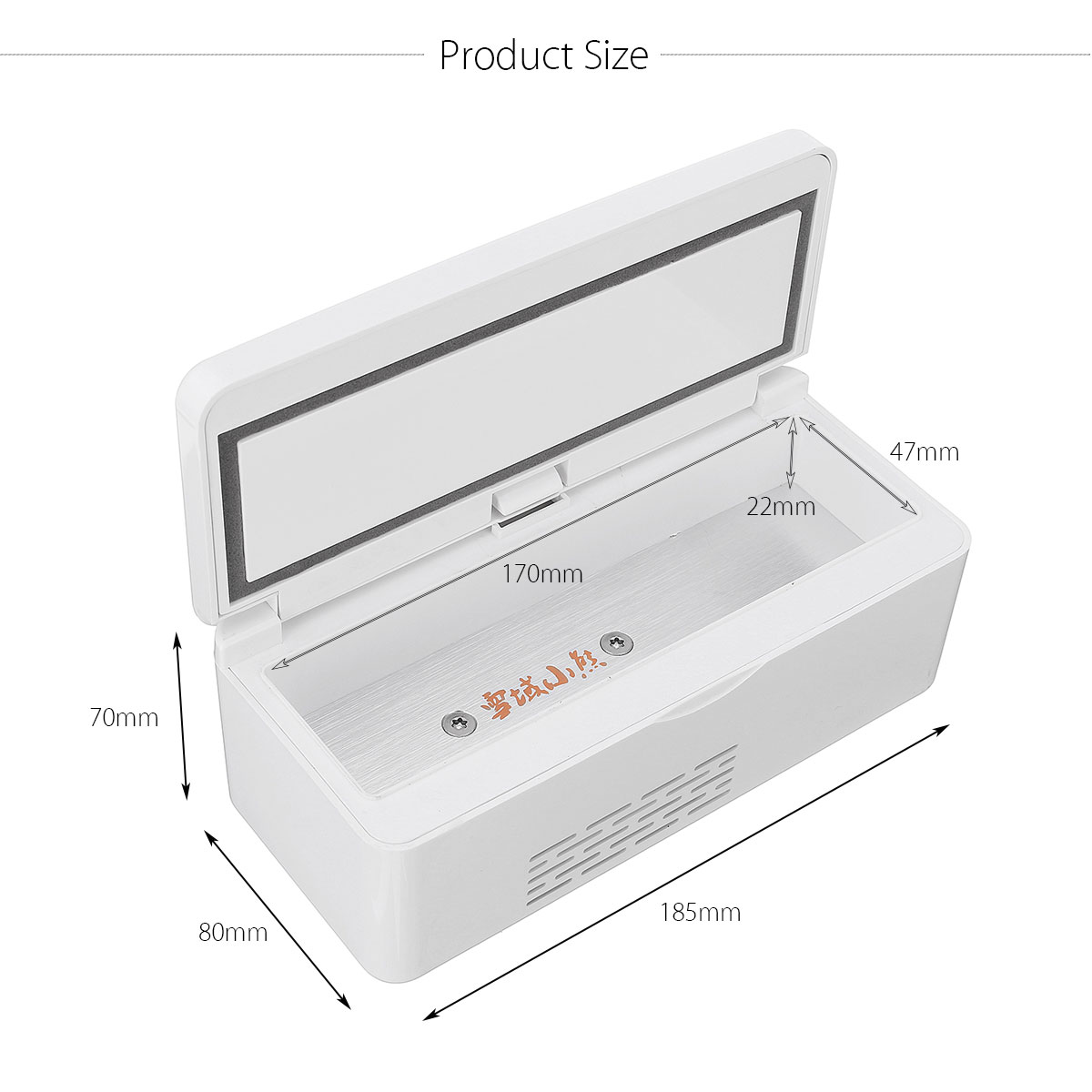 USB Medicine Fridge Refrigerator Insulin Cooler Box Case 2-8℃ for Lab
