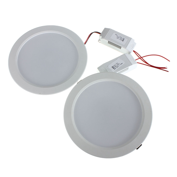 15W Round LED Recessed Ceiling Panel Down Light With Driver