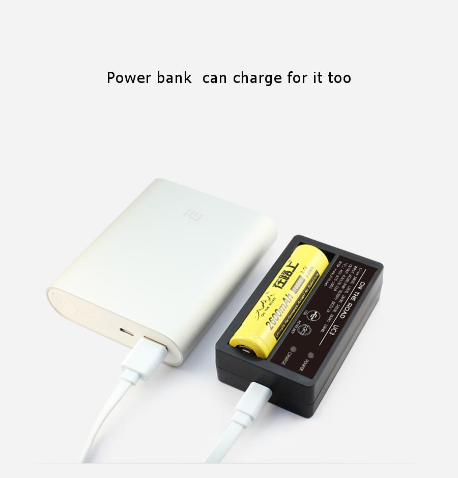 On The Road UC3 LED Indicator Multi-function USB Mini Battery Charger+Power Bank Single Slot US Plug