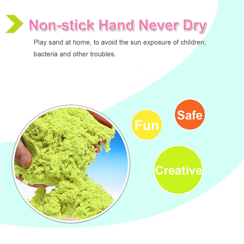 Non-Toxic Magic Motion Colorful Sand Toy Indoor Creative Craft For Children Kids Pottery Clay