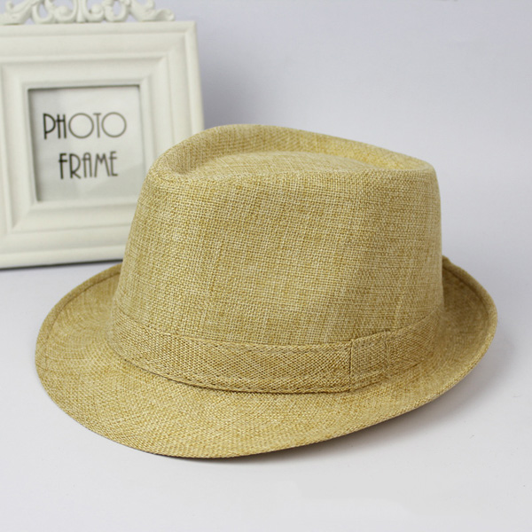 Cotton Wide Brim Panama Fedora Hats Beach Visor Hat