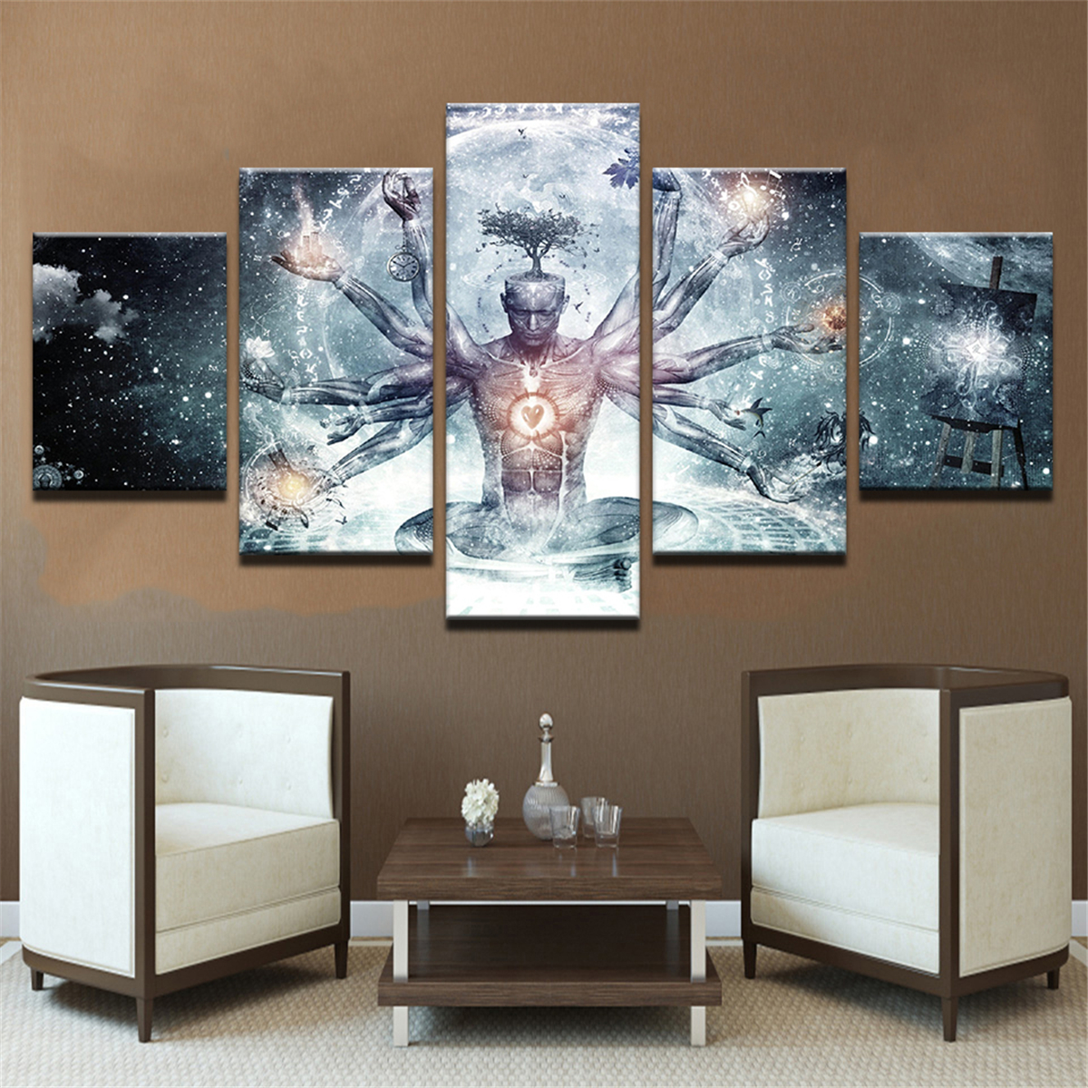Unframed Thousand Hands Of Wise Men Modern Art Canvas Paintings Home Wall Decor