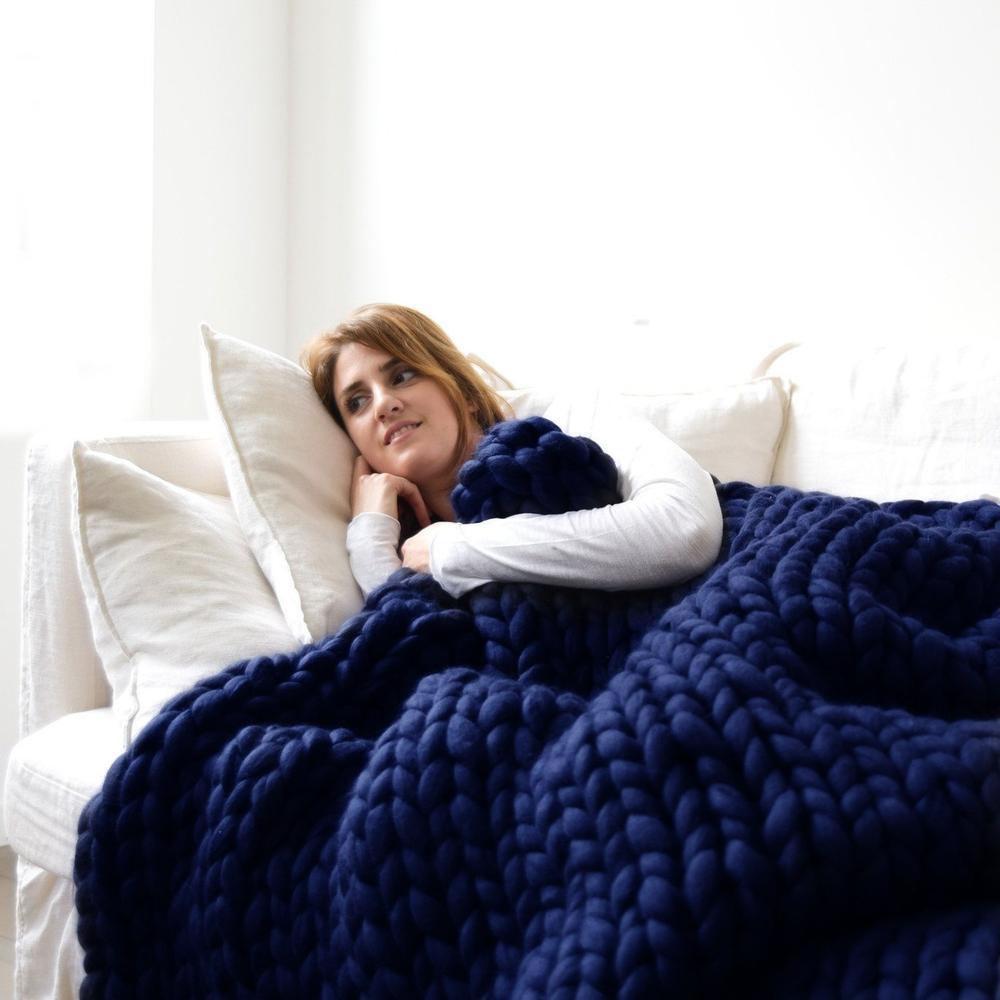 80x100cmmalhaartesanaldemalhacobertores Soft algodão grosso lance sofá cama decoração