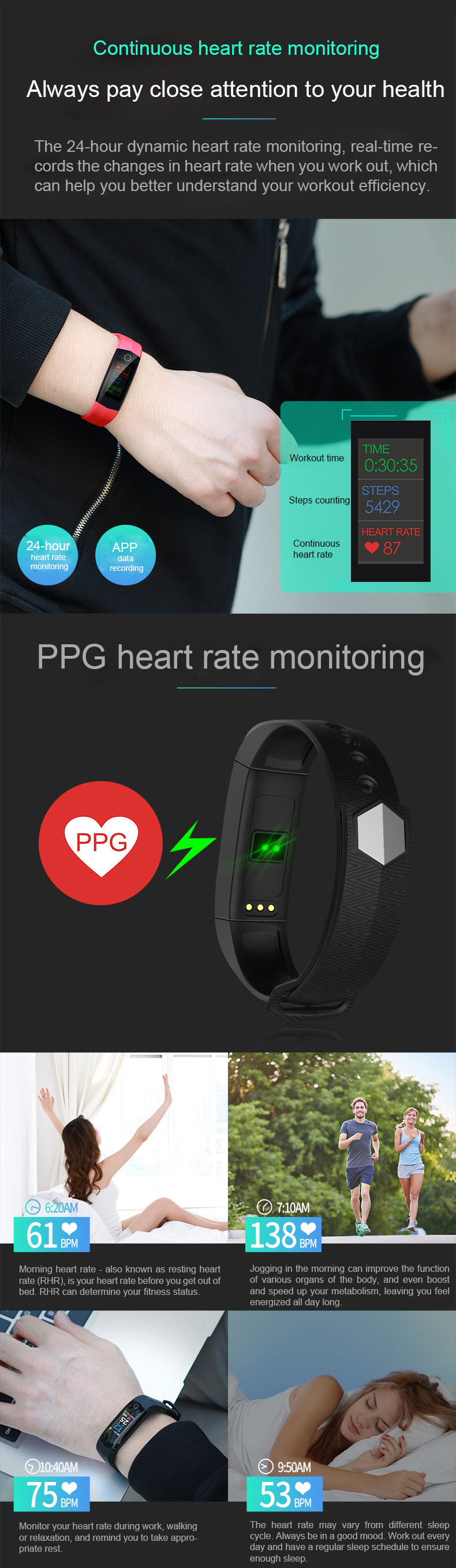 Bakeey CD02 Continuous Heart Rate Monitoring Smart Watch GPS Sport Watch for IOS Android