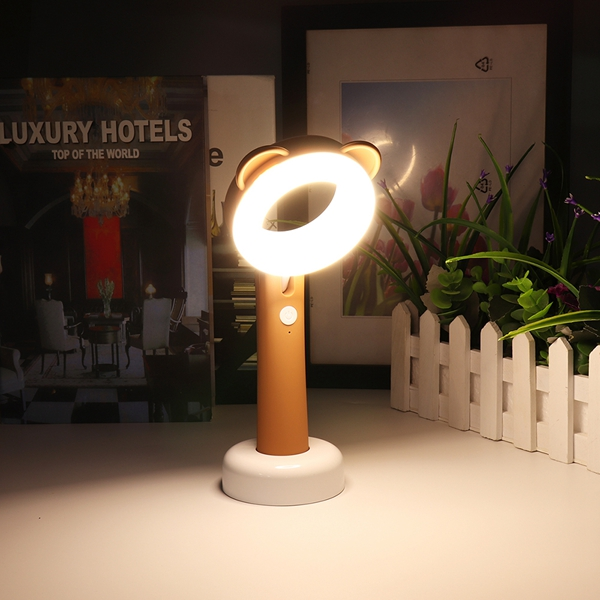 2W LED USB Handheld Cartoon Animal Rechargeable Dimmable Night Lamp For Kids Bedroom Home