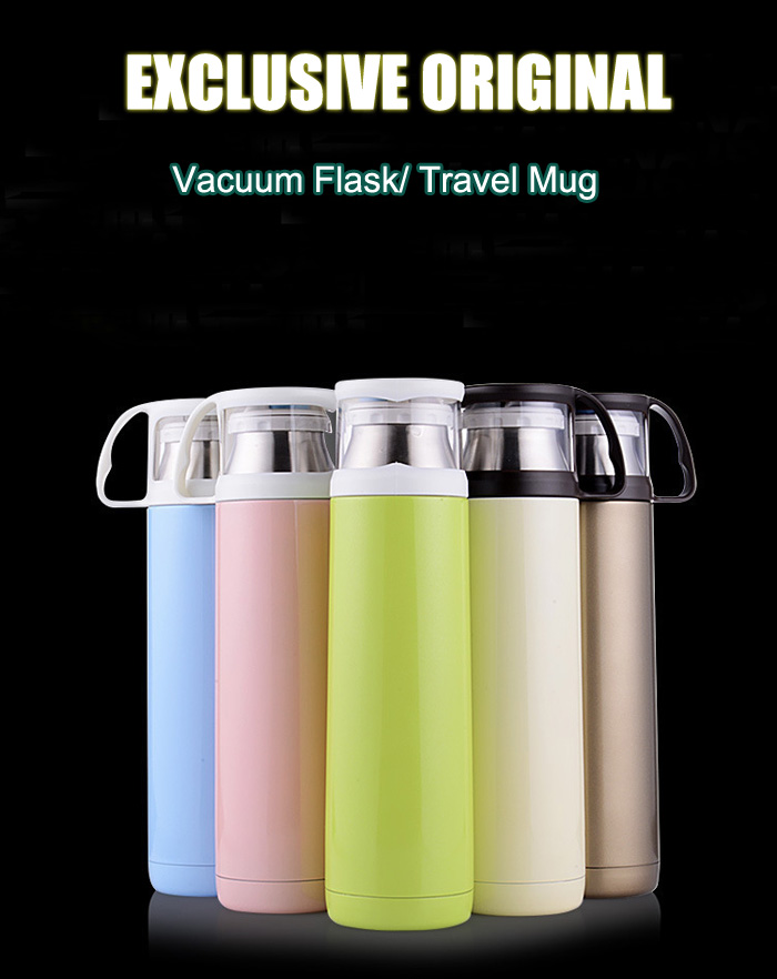 420ml Portable Insulated Vacuum Flask Stainless Steel Coffee Thermos Bottle Travel Mug