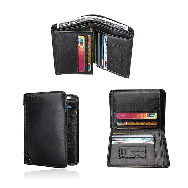 Men Genuine Leather Outdoor Casual Multi-function Wallet