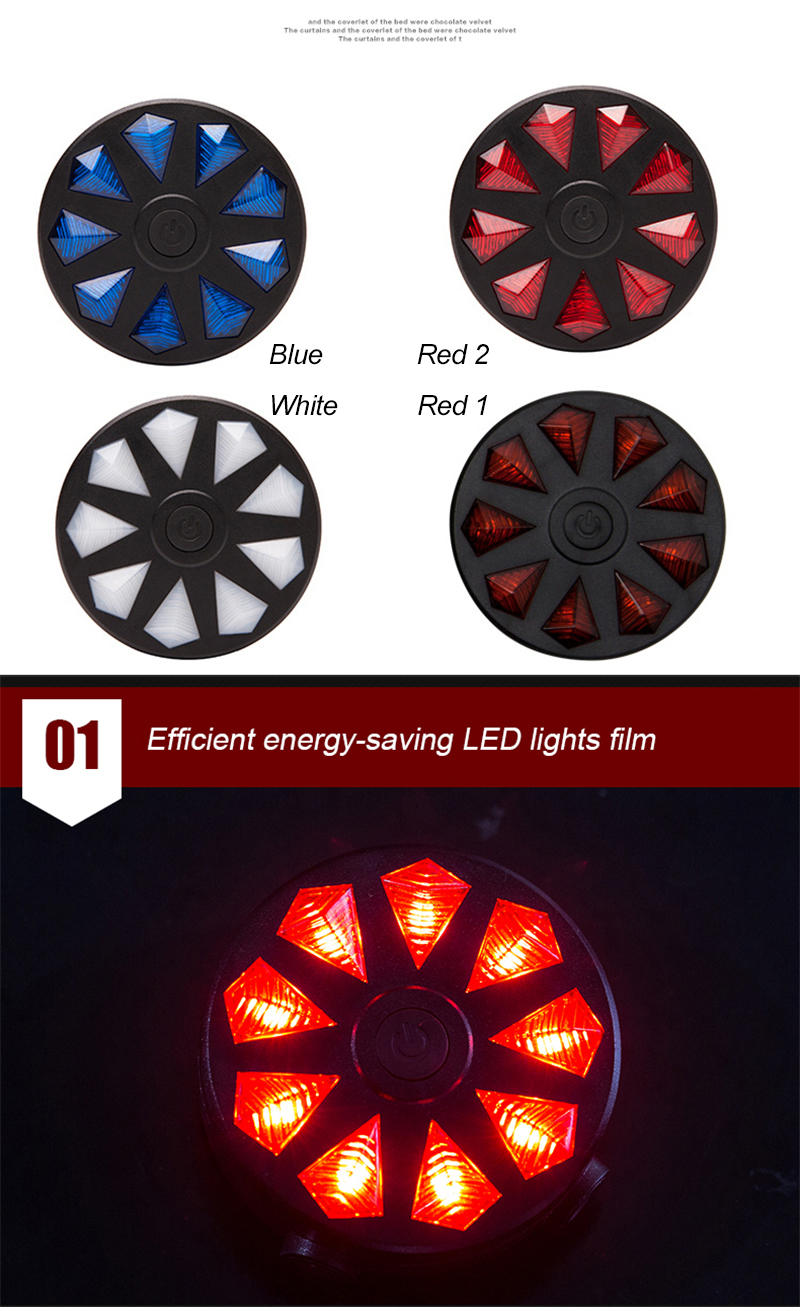 Waterproof Bicycle Rear Light 4 Modes LED Light Tail Bike Light Dual Light Design Cycling Safety Warning Bicycle Accessories Bicycle Tail Light Lamp
