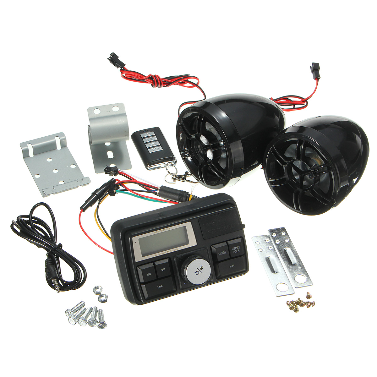 Motorcycle Handlebar Stereo System Radio Amplifier MP3 Speakers with bluetooth Function