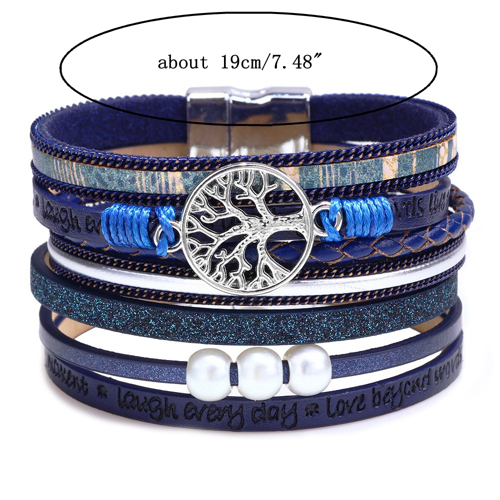 Vintage Life Tree Multilayer Leather Bracelet