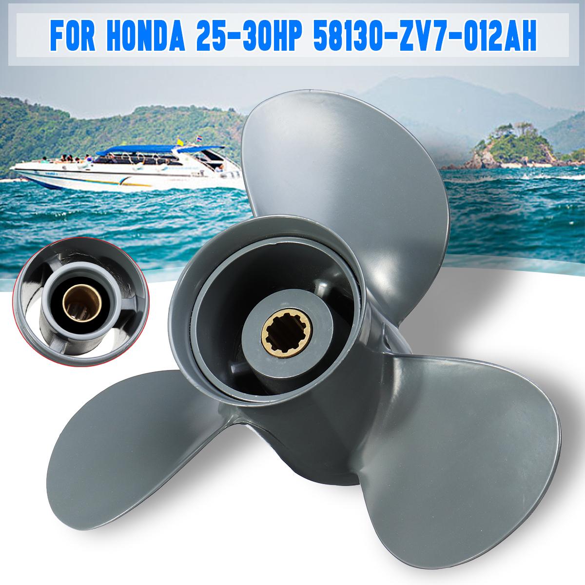 9 7/8 x 12 Aluminum Boat Outboard Propeller For Honda 25-30HP 58130-ZV7-012AH