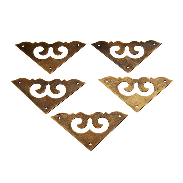4pcs Brass Antique Jewelry Box Corner Angle Of Protection For Cupboard Cabinet Dresser