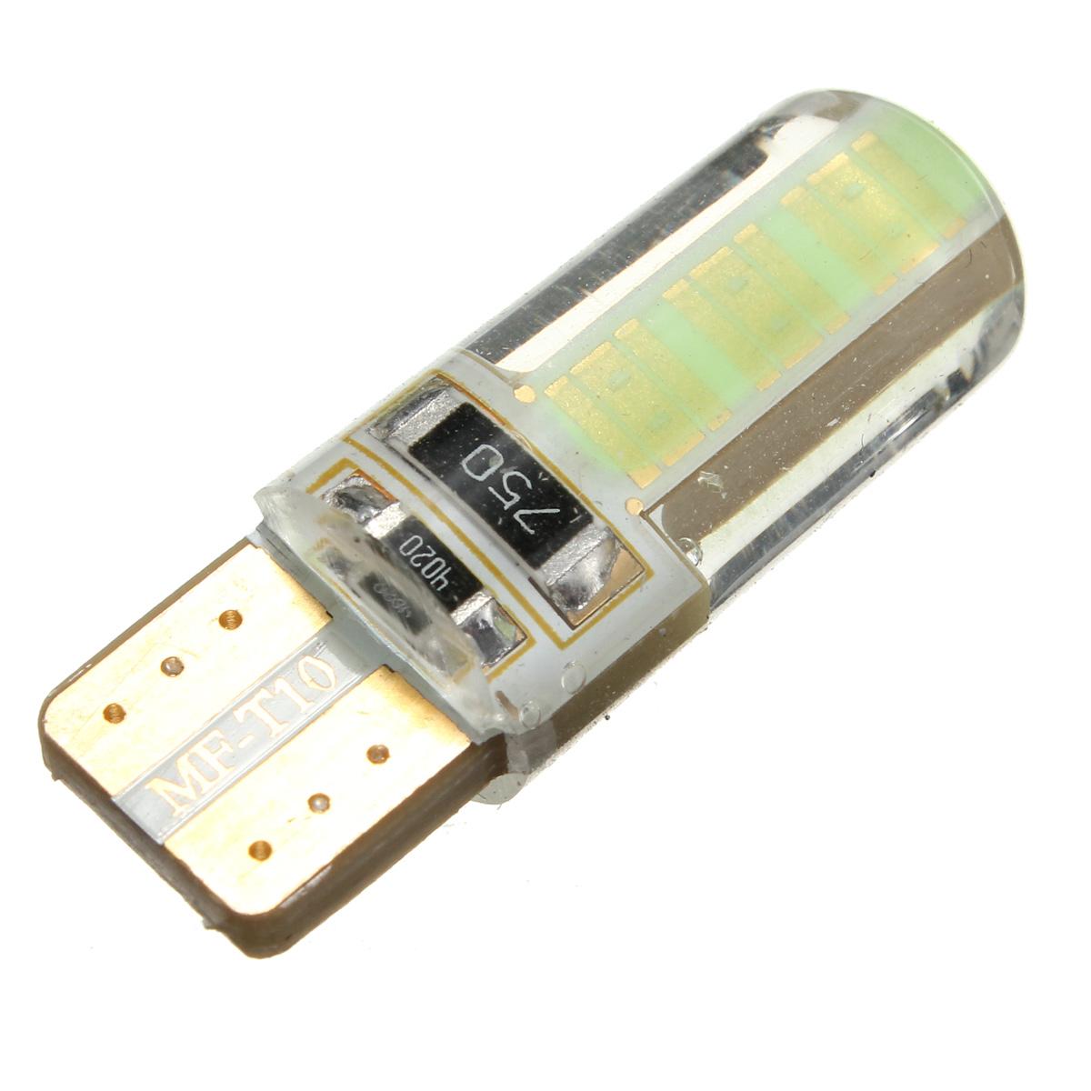 T10 W5W COB LED Car Side Wedge Marker Lights Canbus Error Free License Bulb Soft Gel 2W 1pcs