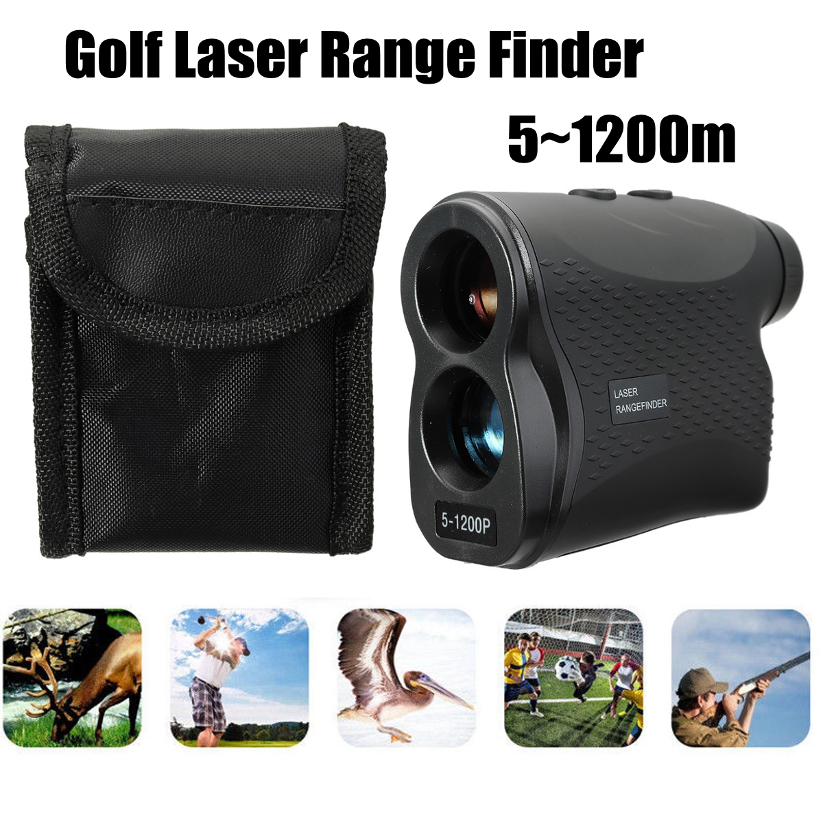Golf Laser Range Finder Angle Scan w/Case Rangefinder 600/900/1200/1500M