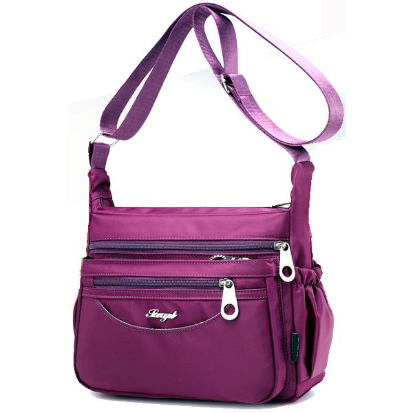 Women Multi Pockets Light Shoulder Bags Outdoor Travel Waterproof Crossbody Bags Messenger Bags