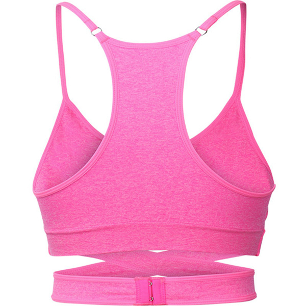 Woman Seamless Sport Vest Quick Drying Wireless Cross Shakeproof Sport Yoga Bras