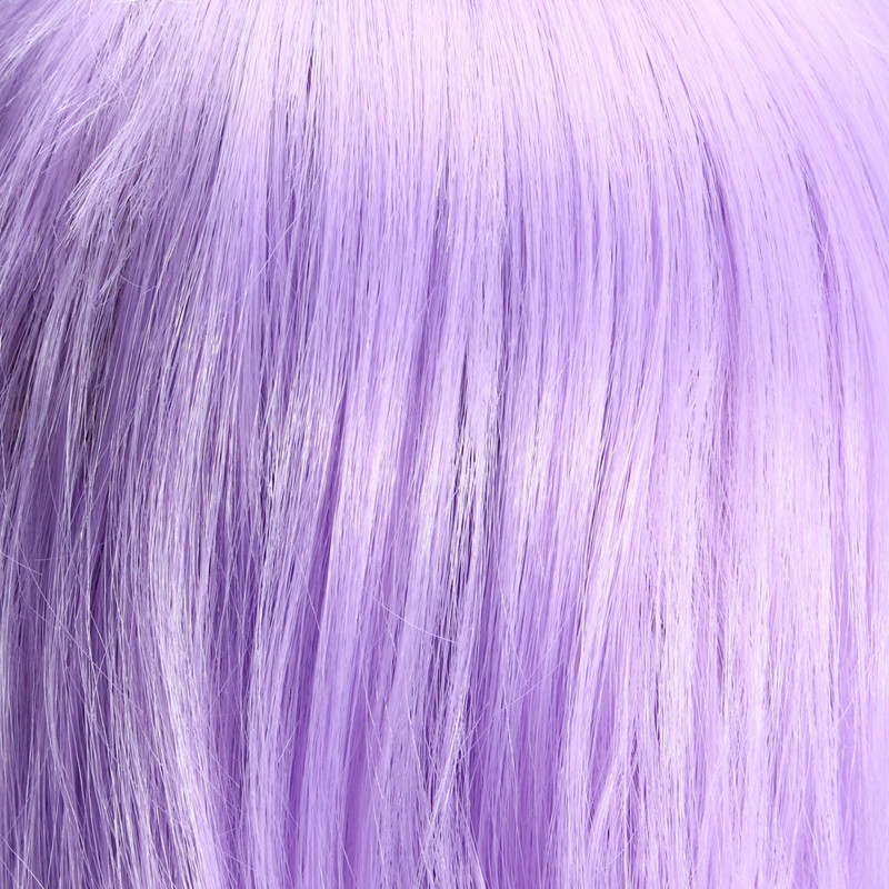 Light Purple 70cm Corn Perm Long Curly Wavy Cosplay Wig Party Daily Wigs