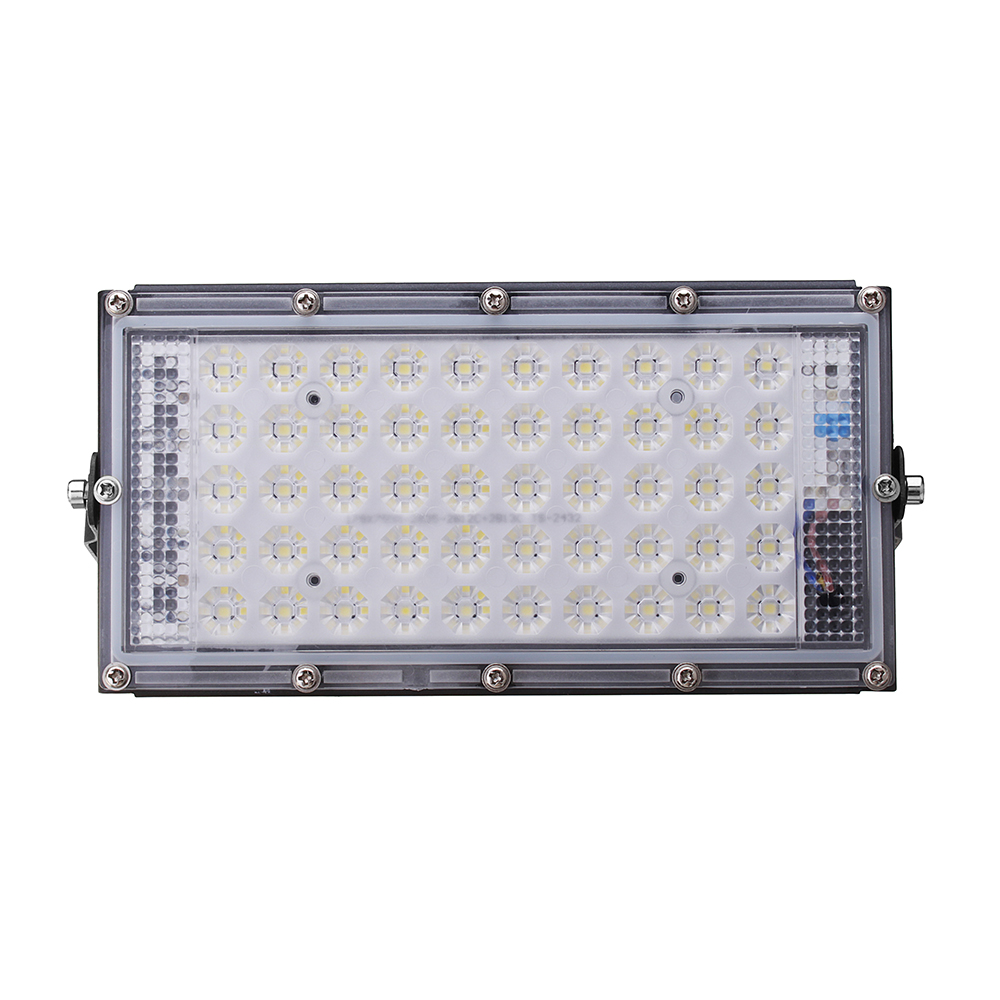 50W 4500lm Waterproof IP65 50 LED Flood Light with Lens White Light Spotlight Outdoors Lamp AC220V