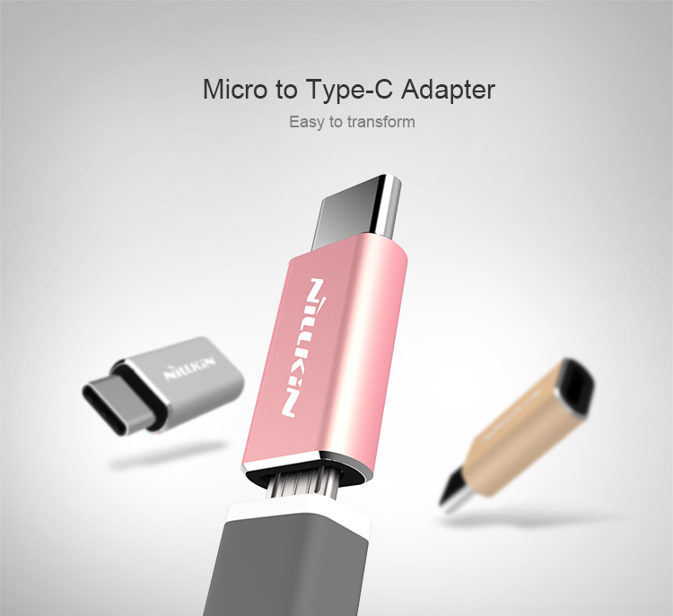 NILLKIN AD-MT Aluminum Alloy Micro to Type-C Adapter for Xiaomi Huawei LG HTC