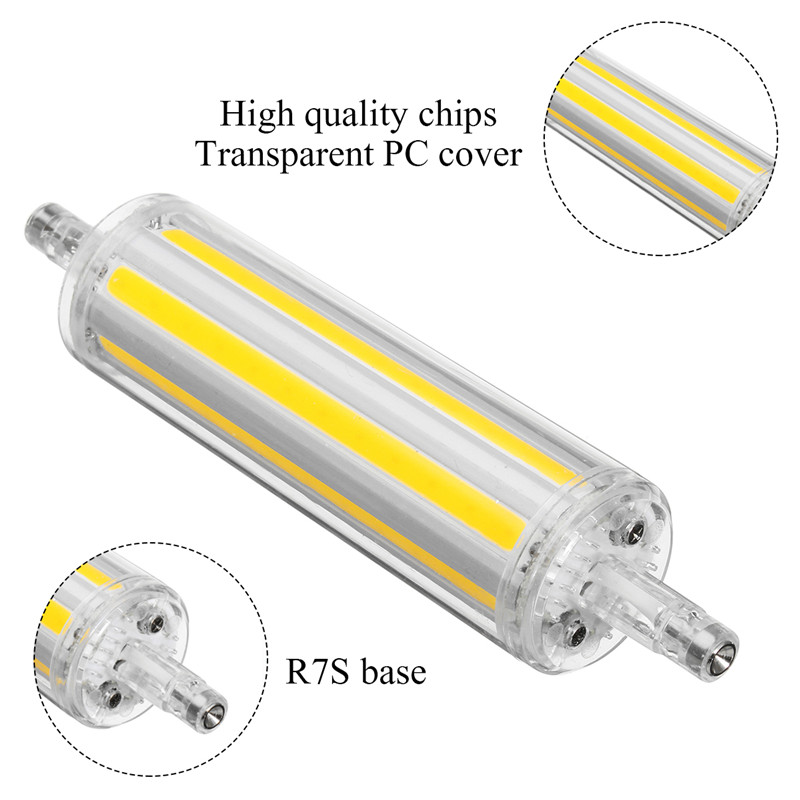 R7S 12W COB Yes/No Dimmable 1150LM Pure White Warm White LED Corn Light Bulb AC85-265V