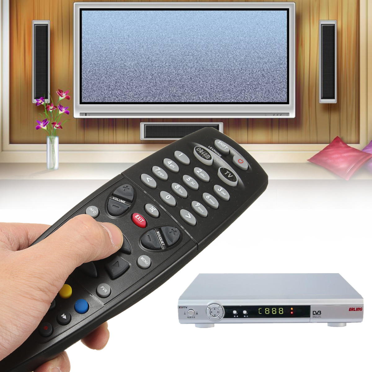 Replacement Remote Control For Dreambox 800HD 800SE DM800 C S SE TV Box Set Top