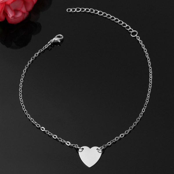 Sweet Love Heart Alloy Foot Ankle Chain For Women Adjustable