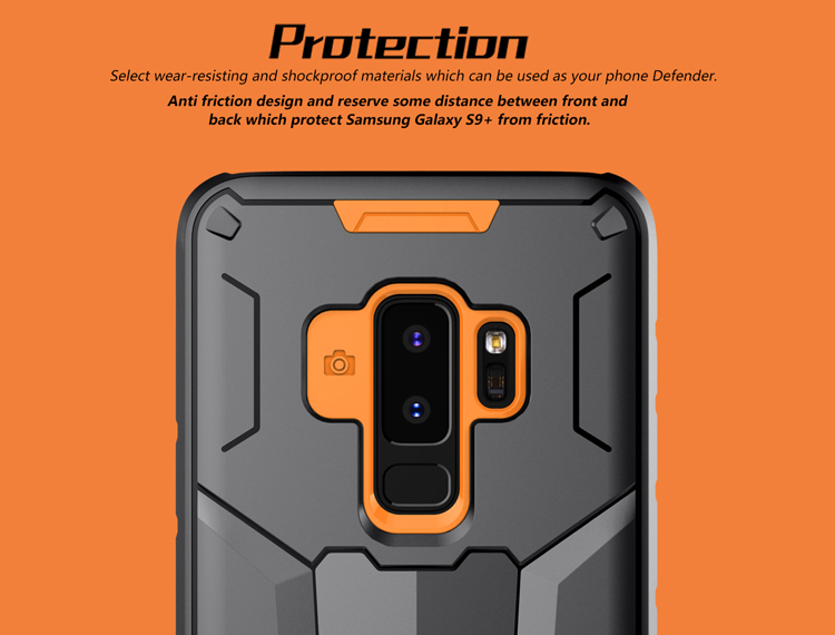 NILLKIN Shockproof Armor Defender PC + TPU Protective Case for Samsung Galaxy S9 Plus