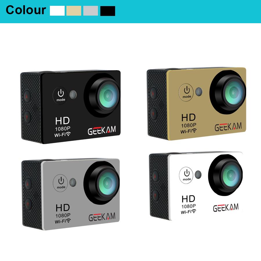 GEEKAM W9 30M Waterproof Action Sportscamera 4k WIFI 170 Degree Cam Camcorder