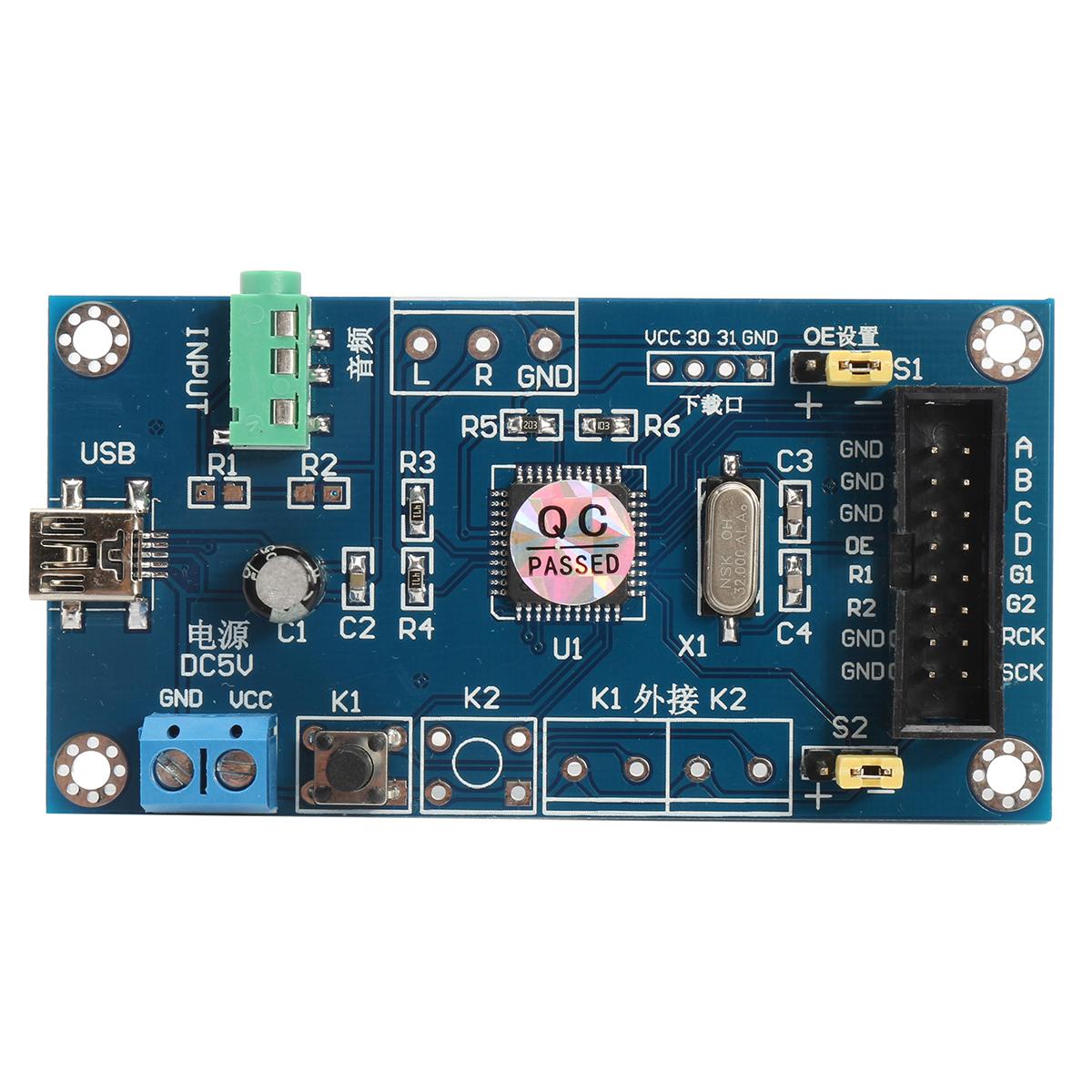 Audio Music Spectrum 6 Modes Level Display Screen Indicator DIY VU Meter Kit