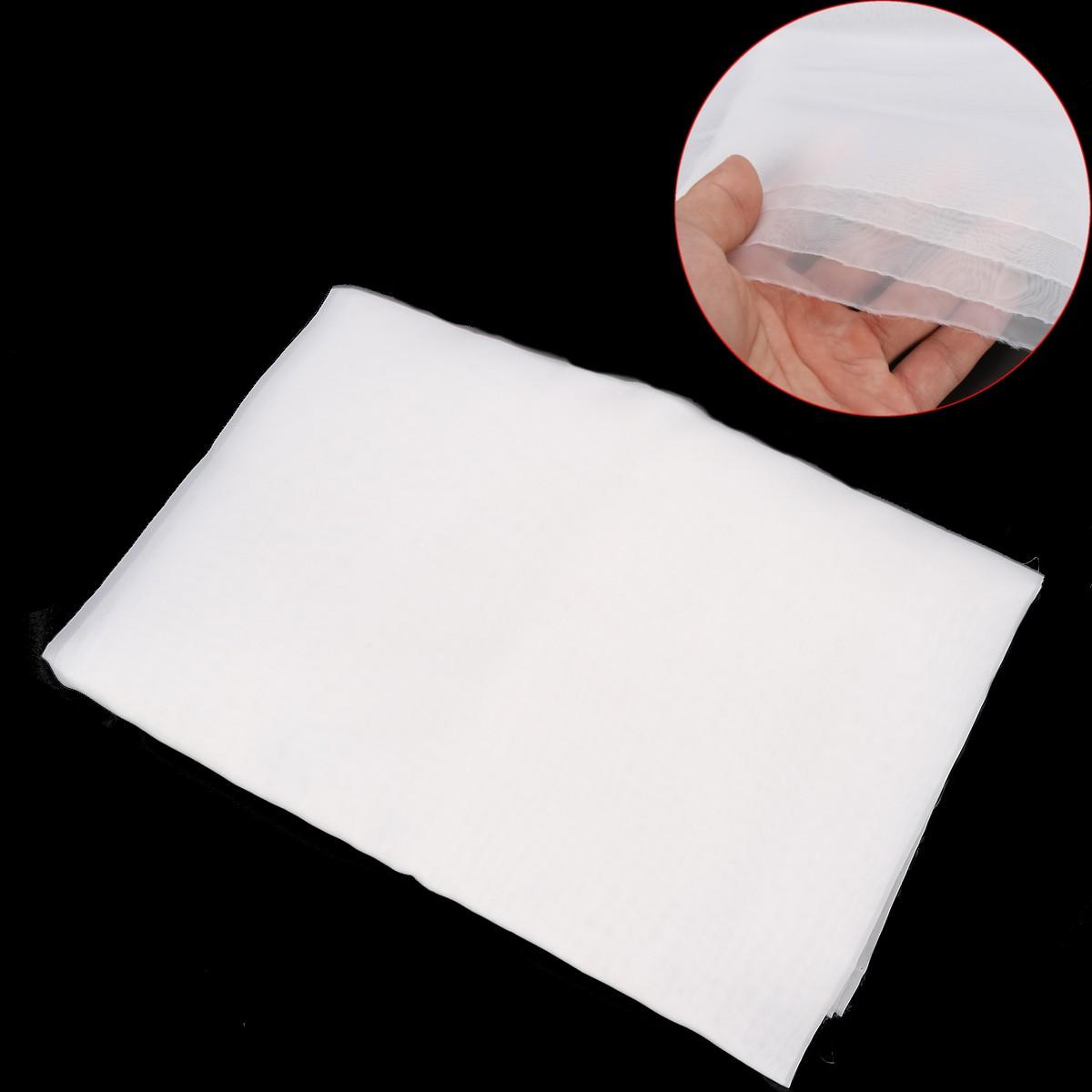 90x127cm Silk Screen Printing Mesh Fabric White 60Mesh 24T 1 Yard