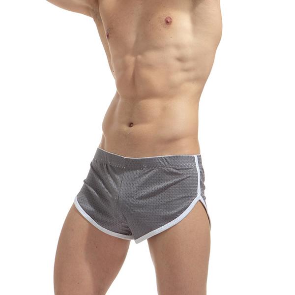 Mens Mesh Breathable Arrow Shorts Home Sleepwear Boxer