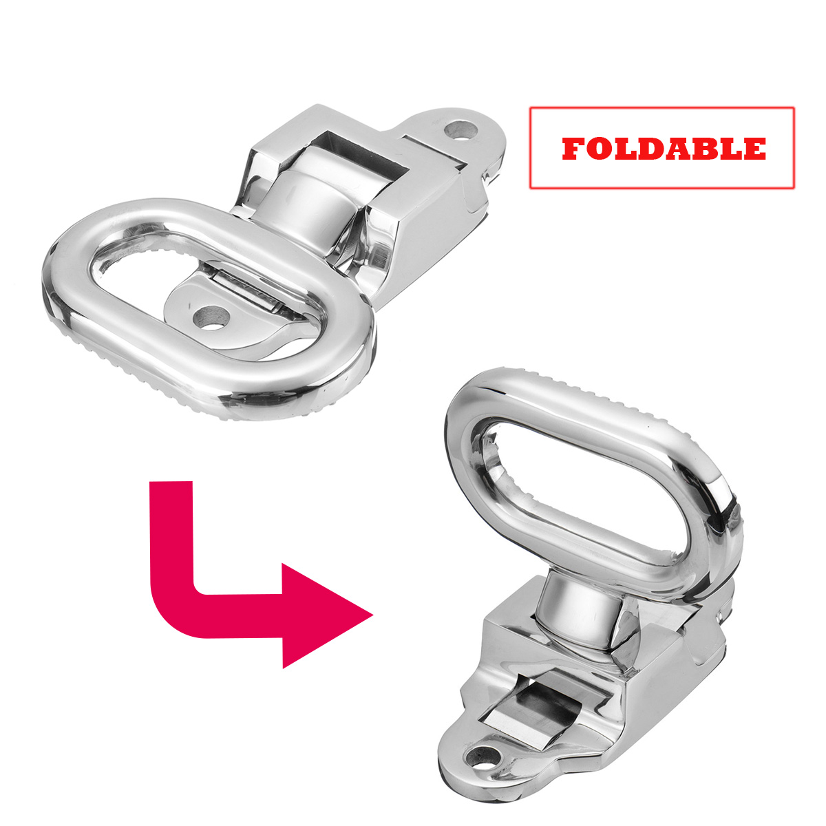 Folding Non-slip 316 Stainless Steel Folding Step Pedal Bracket For Marine Boat Yacht Car