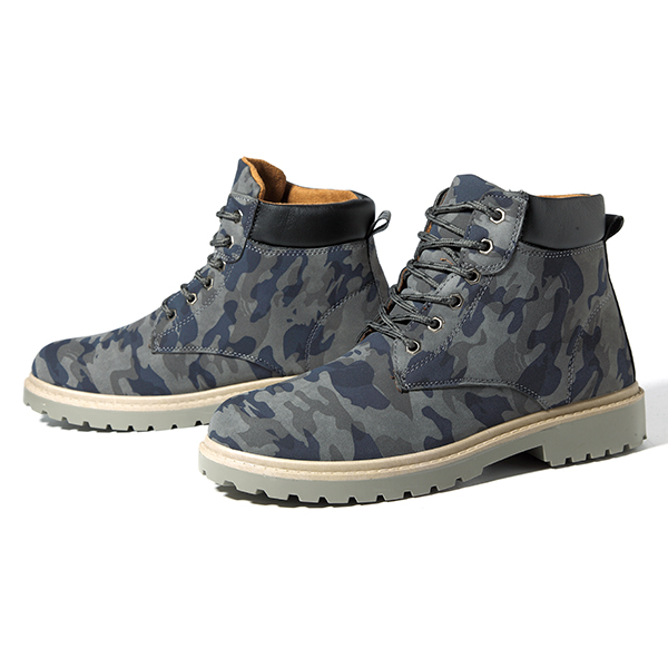 Men Comfortable Army Style High Top Boots