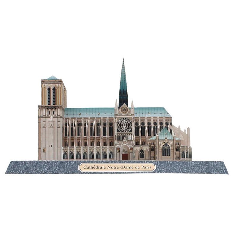 Notre Dame Cathedral/ 3D Puzzles Models Paper Dimensional Model Assembled Puzzle Educational Toy Notre-Dame Cathedral De Paris Model Building