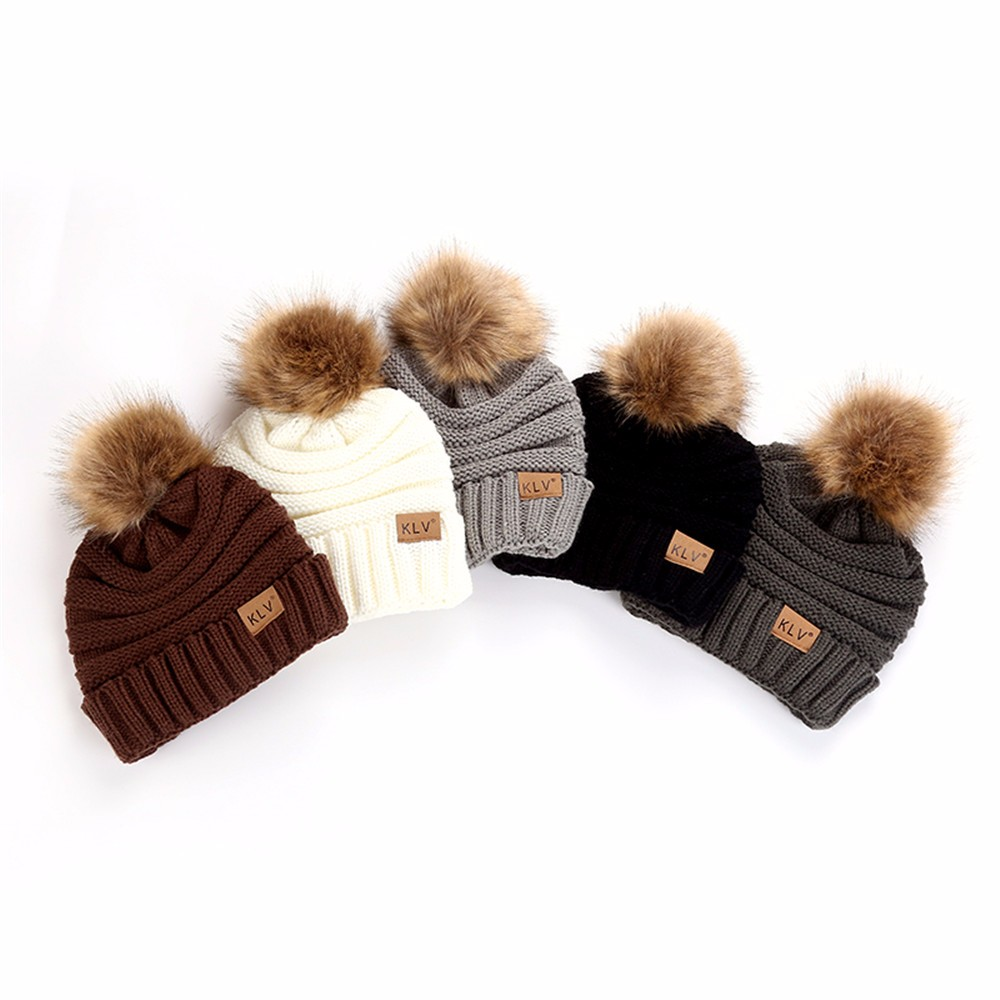 Men Women Baggy Warm Hat Crochet Winter Wool Knit Ski Motorcycle Beanie Cap