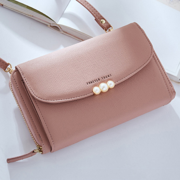 Women Candy Color Clutch Card Holder Wallet Purse