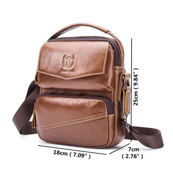 Men Casual Leather Single Shoulder Bag