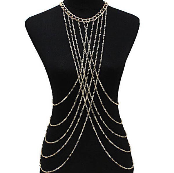 Women Tassel Sexy Beach Crossover Waist Body Chain Neck