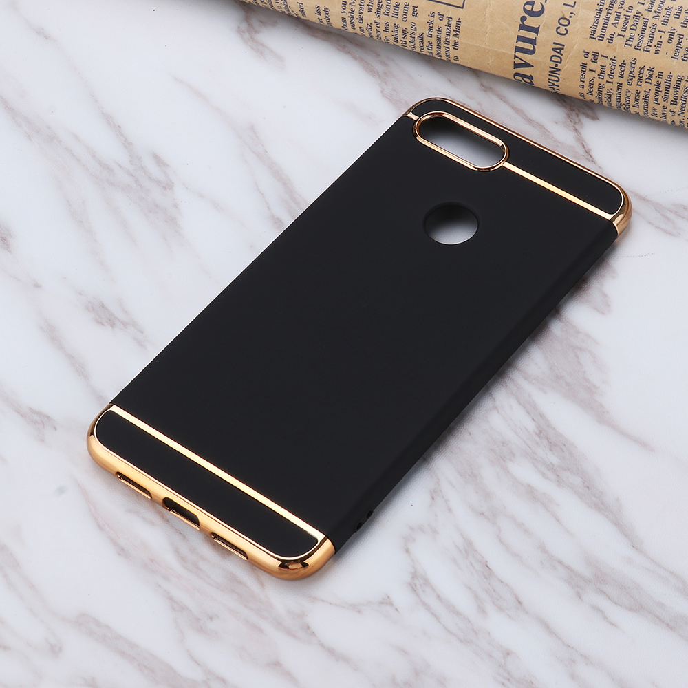 Bakeey Ultra-thin 3 in 1 Plating Frame Splicing PC Hard Protective Case For Xiaomi Mi 8 Lite