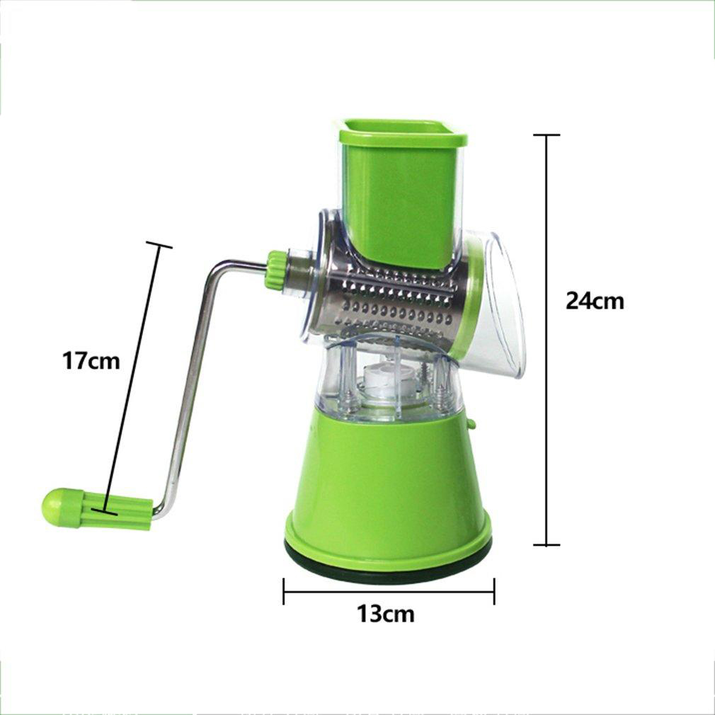 Muti-funtion Vegetable Cutter Rolling Machine Fruit Cutter Hand-operated Roller Shreding Grinding Slicing Tools