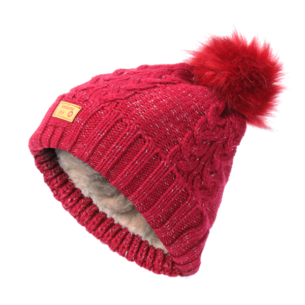Women Thicken Warm Knitted Hat And Collar Scarf Set