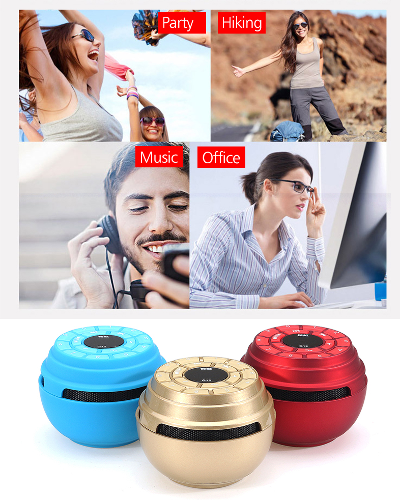 Portable Mini Wireless bluetooth Speaker TF Card FM Radio Handsfree Music Speaker with Mic