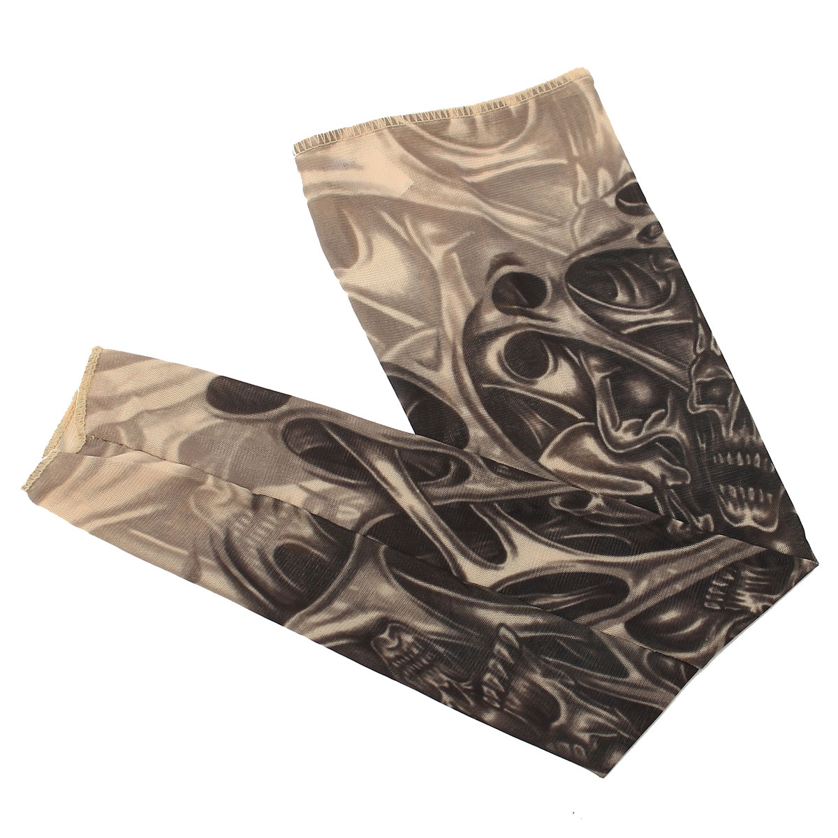 1pc Skull Tattoo Sleeves Nylon Spandex Stretchy Temporary Arm Stockings